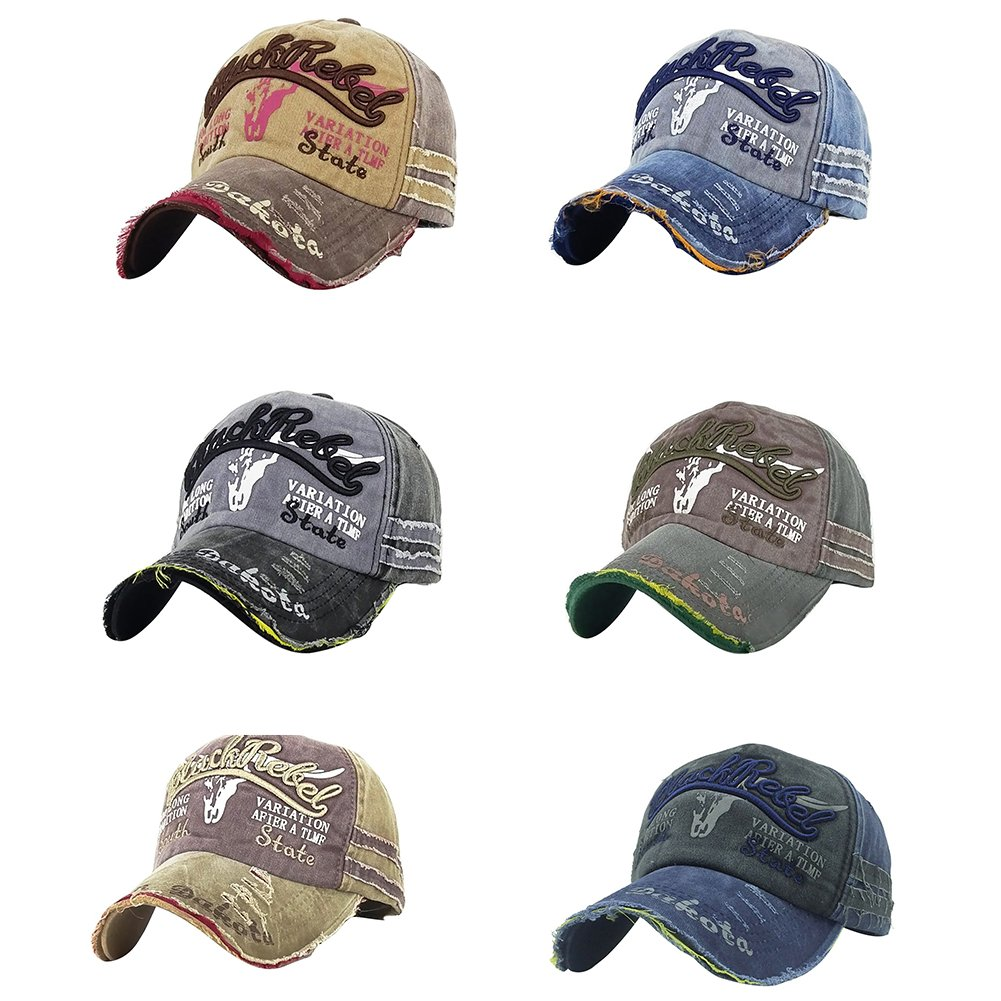 Infgreate Stylish Warm Hat Fashion Sport Letters Washed Hat Casual Men Women Adjustable Cotton Baseball Cap