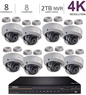 Q-See 4K 8MP 8 Dome 8-Channel NVR Ultra HD QC IP Series