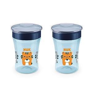 NUK Evolution 360 Cup, 8 Oz, 2 Pack, Blue