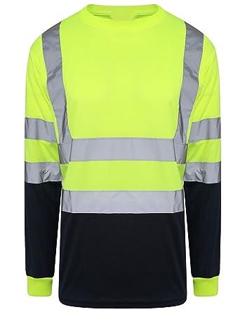 32543e55e496 FASHION FAIRIES Mens Adult Hi Vis Visibility Short Sleeve T Shirt ...