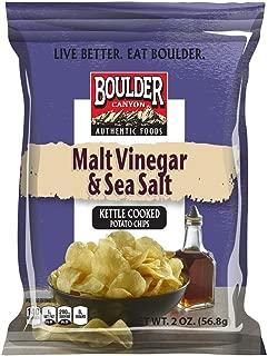 product image for Boulder Canyon, Malt Vinegar & Sea Salt Kettle Cooked Potato Chips, 2.0 oz. (8 count)