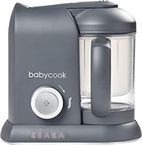 BEABA Babycook 4 in 1 Steam Cooker and Blender, 4.5 Cups, Dishwasher Safe, Charcoal