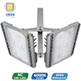 LED Flood Light, STASUN 200W 18000lm LED Outdoor Security Lights with Wide Lighting Area, 6000K Daylight, Built with CREE LED Chips, Waterproof, Great for Yard, Street, Parking Lot