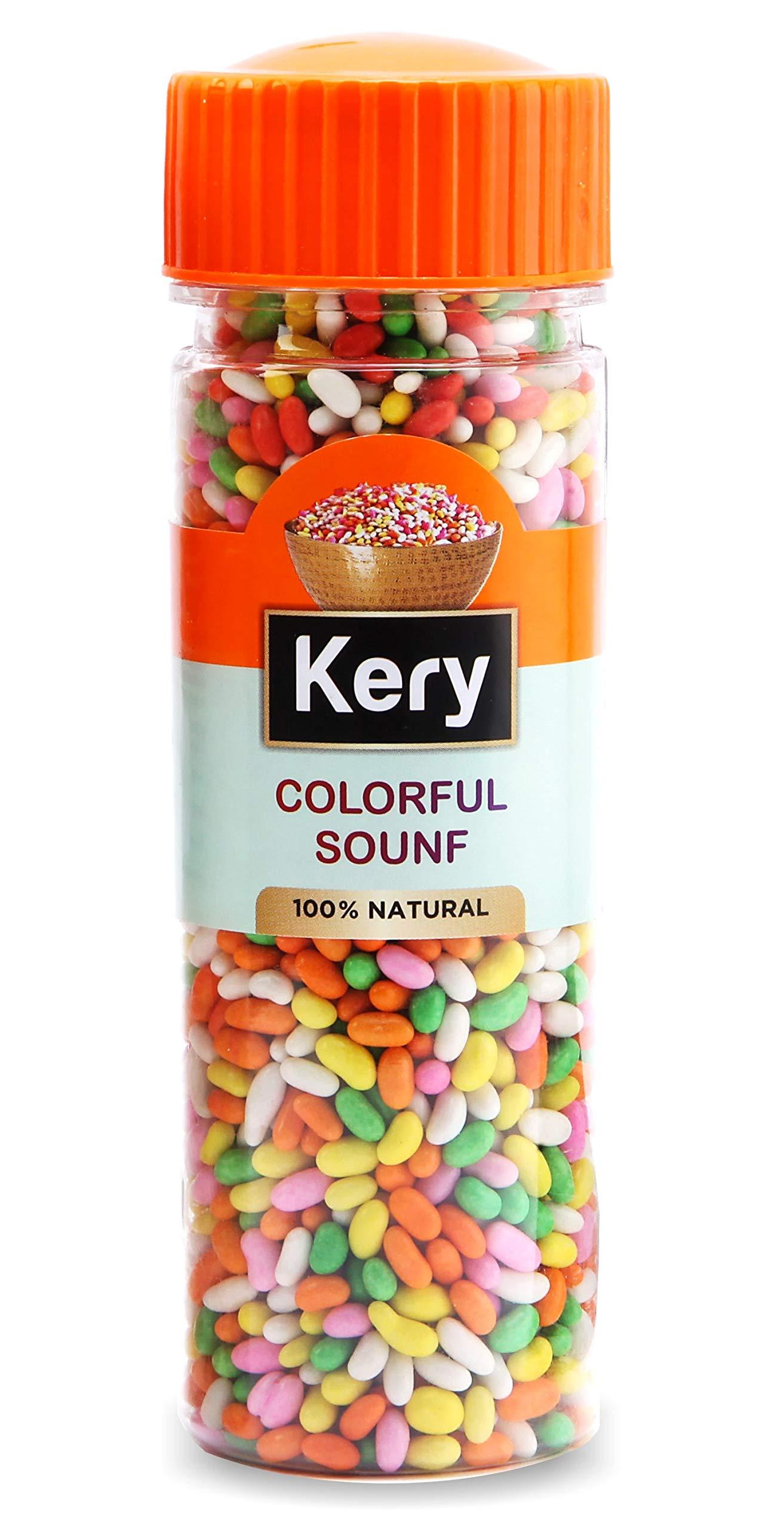 Kery Colorful Saunf Mouth Freshener, 1 Bottle, 130g (Sugar Coated Fennel Sonf Mukhwas)