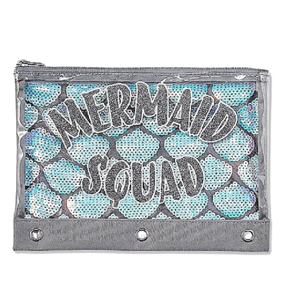 Justice For Girls Mermaid Squad Binder Pencil Case