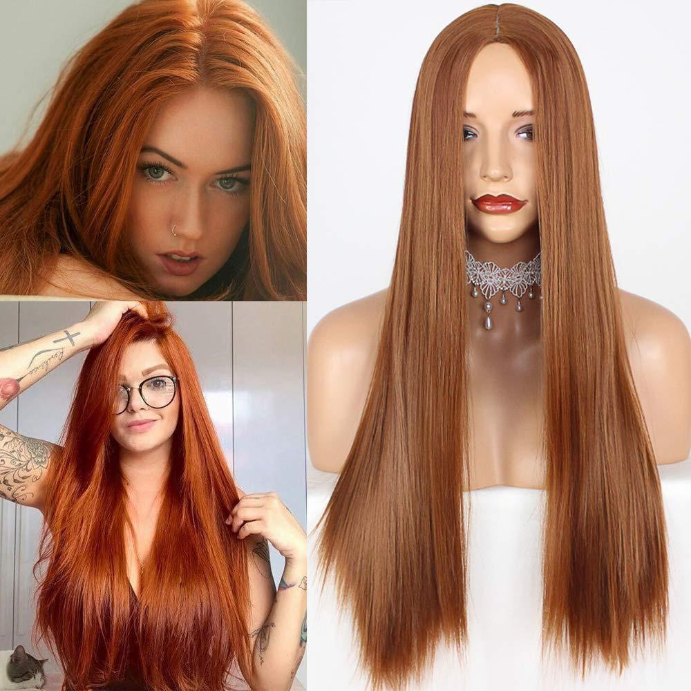 59de6a44e Amazon.com : PlatinumHair Heat Resistant Fibre Synthetic Wig(orange 24