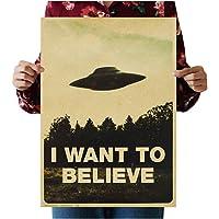 Tmrow I Want To Believe - Art Movie Film UFO Fabric Poster Wall Scroll
