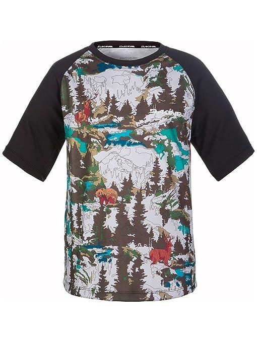Amazon.com   Dakine Kid s Dropout Short Sleeve Bike Jersey Shirt ... 1c505dd4b