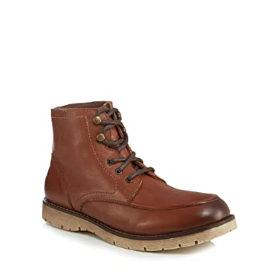 Mantaray Men Tan Leather 'Minsk' Lace Up Boots 9
