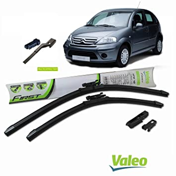 Valeo_group Valeo Juego de 2 escobillas de limpiaparabrisas Especiales para Citroen C3 | 600/450 mm |: Amazon.es: Coche y moto