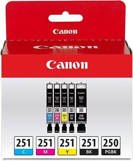 Amazon.com: Cartuchos de tinta de color y negro CLI-251 B/C ...