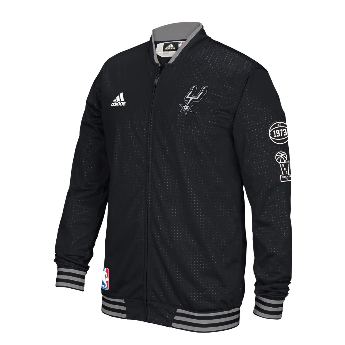 11d24819b Amazon.com   San Antonio Spurs Adidas 2015 NBA Men s On-Court Warm-Up Full  Zip Jacket   Sports   Outdoors