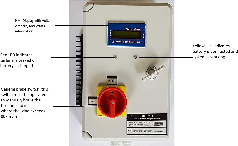 HYBRID LADEREGLER IstaBreeze® 12V-24V i//HCC 800 Solar f WINDGENERATOR