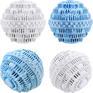 4 Pieces Laundry Ball, Ultra Laundry Washer and Dryer Washing Ball Bundle for 1500 Washings