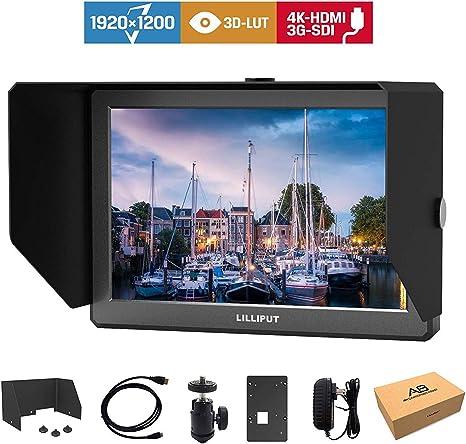Lilliput A8S Monitor de Campo de cámara 4K HDMI de 8,9 Pulgadas 3G-SDI para cámaras DSLR: Amazon.es: Electrónica