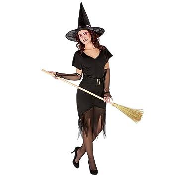 TecTake dressforfun Disfraz de hechicera para Mujer | Sombrero de ...