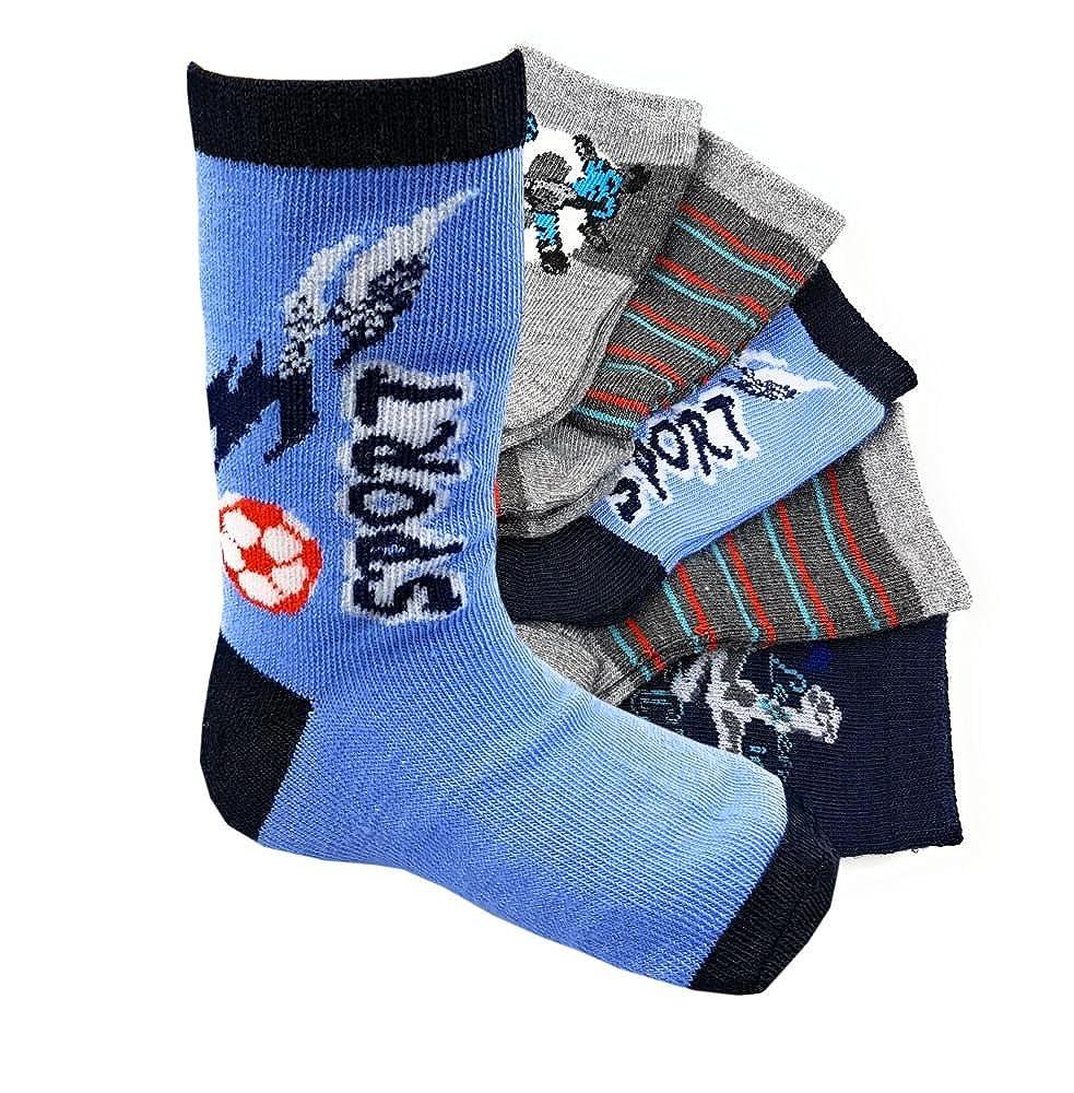 12 Paar Jungen Kids Socken Kinder Strümpfe 85% Baumwolle Bunter Mix Gr. 23-38