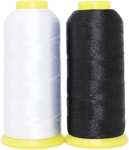 Huge Spool White Embroidery Machine Bobbin Thread Each