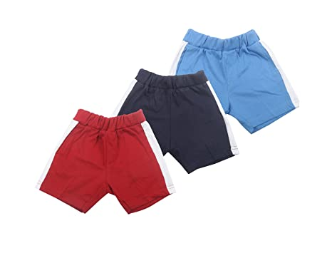 55b4eea8e0ae84 ZERO Baby Boy's and Baby Girl's Cotton Shorts/Half Pants (3-6 Months, Maroon,  Blue, Navy Blue) - Pack of 3: Amazon.in: Baby