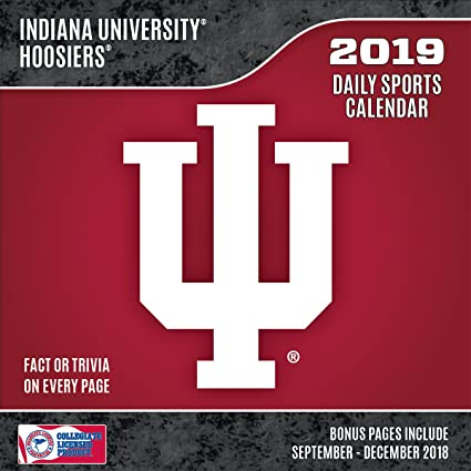 Indiana University 2019 Calendar Amazon.: Turner 1 Sport Indiana Hoosiers 2019 Box Calendar