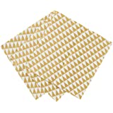 Talking Tables Party Time Gold Geo Design Party Napkins for a Birthday, Gold (20 Pack)