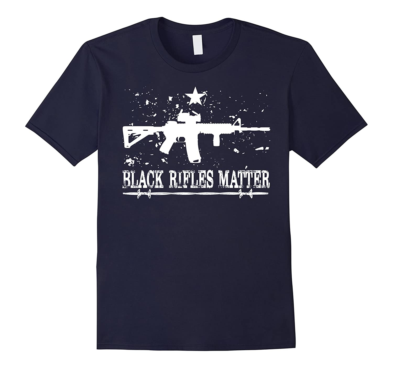 Black Rifles Matter Amendment T-Shirt-RT