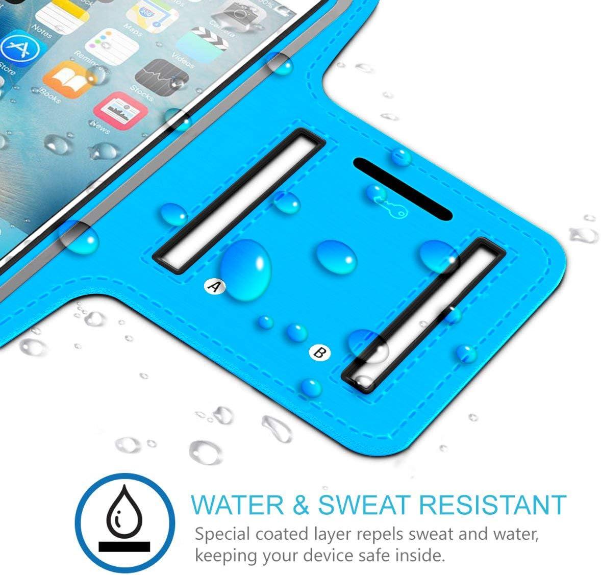 Amarillo Brazalete Deportivo Compatible con iPhone 11 Pro MAX de Neopreno Antideslizante antisudor con Bolsillo para Llaves Cable Tarjetas