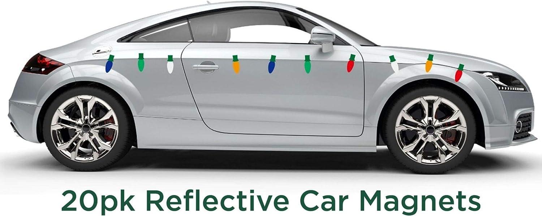 """12/"""" RED Split Design Vehicle Magnetic Signage Student Driver Magnets"""
