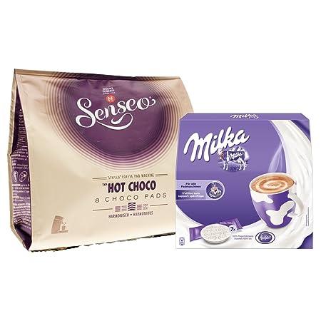 Senseo Hot Choco, 8 pads + Gratis Milka para cafeteras monodosis ...