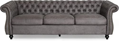 Vita Chesterfield Tufted Microfiber Sofa