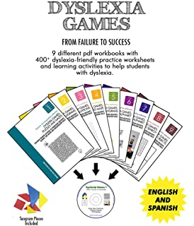 Worksheets Dysgraphia Worksheets amazon com dyslexia and dysgraphia worksheets for teachers the games 9 pdf workbooks kids in a cd 3 sets of high