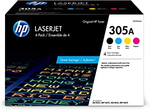 HP 305A | CE305AQ1 | 4 Toner Cartridges | Black, Cyan, Magenta, Yellow