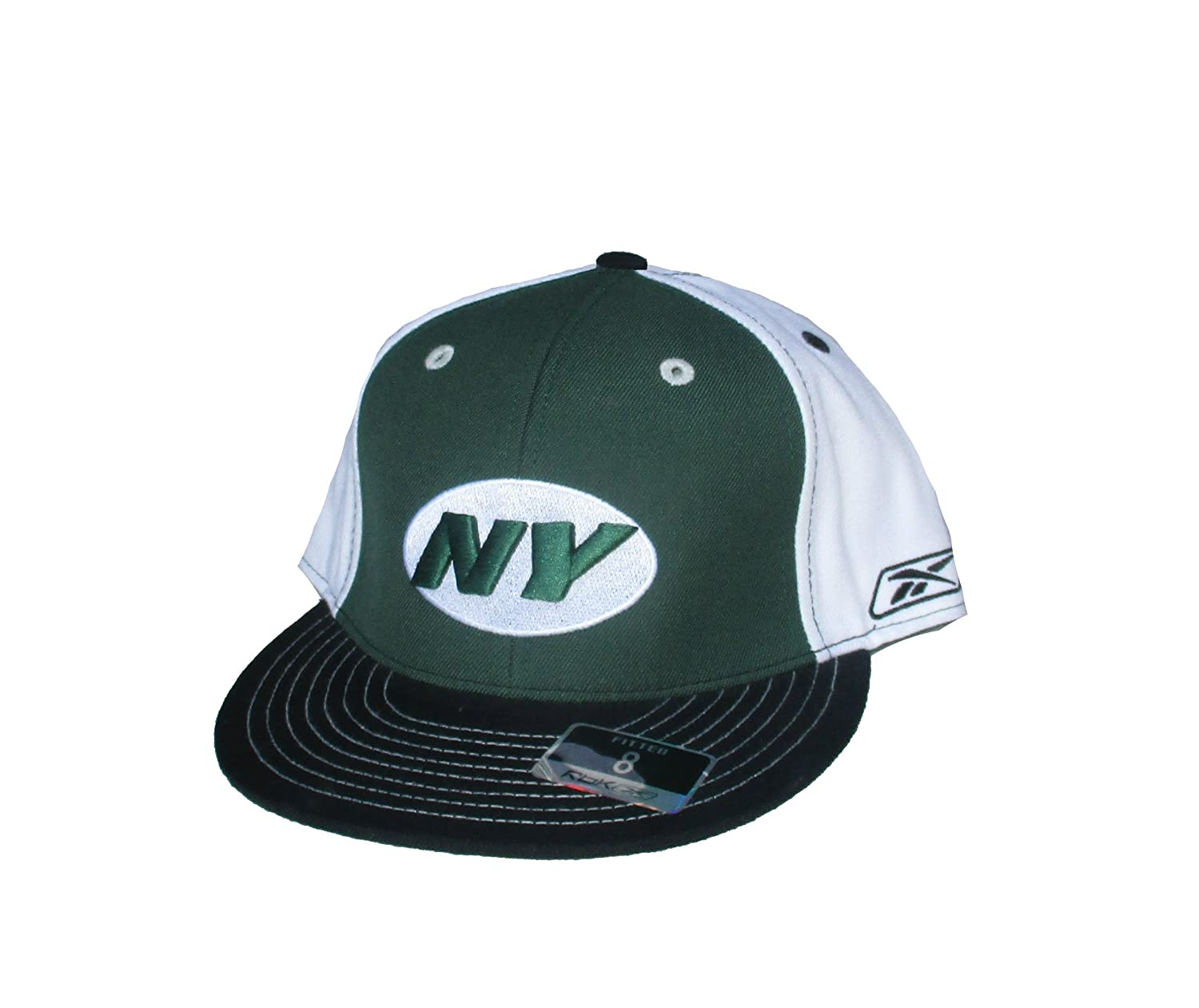 94474186bf7 Amazon.com  New York Jets Fitted Size 8 Tr-Tone Hat Cap - Green   Black    White  Sports   Outdoors