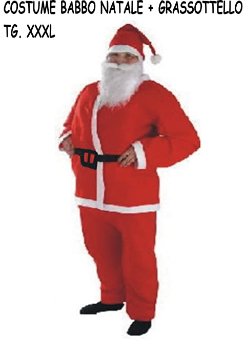 Vestito Babbo Natale Taglia 60.Ajl Srl Costume Vestito Babbo Natale Grassottello Vedi Misure