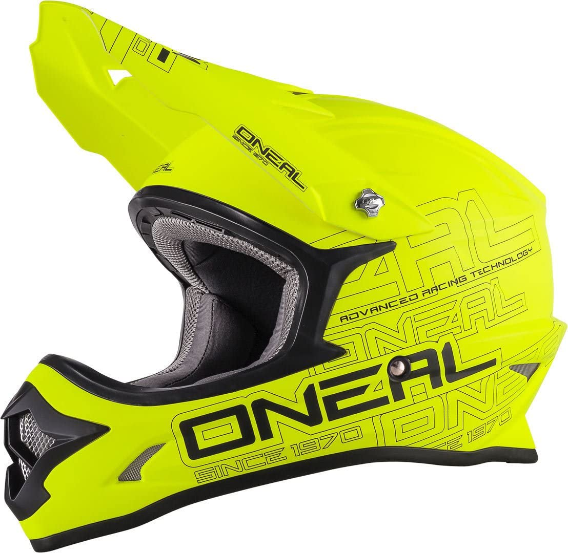 53//54 Neon Gelb ONeal 3SERIES Flat Motocross Helm XS
