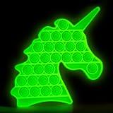 HiUnicorn Pop Its Bubble Push Sensory Fidget Toy, Unicorn Rainbow Silicone Pop Educational School Game Toy Gift for Kids…