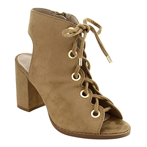 8b5bba05ed7 Image Unavailable. Image not available for. Color  Nature Breeze FG92 Women s  Lace up Criss Cross Block ...