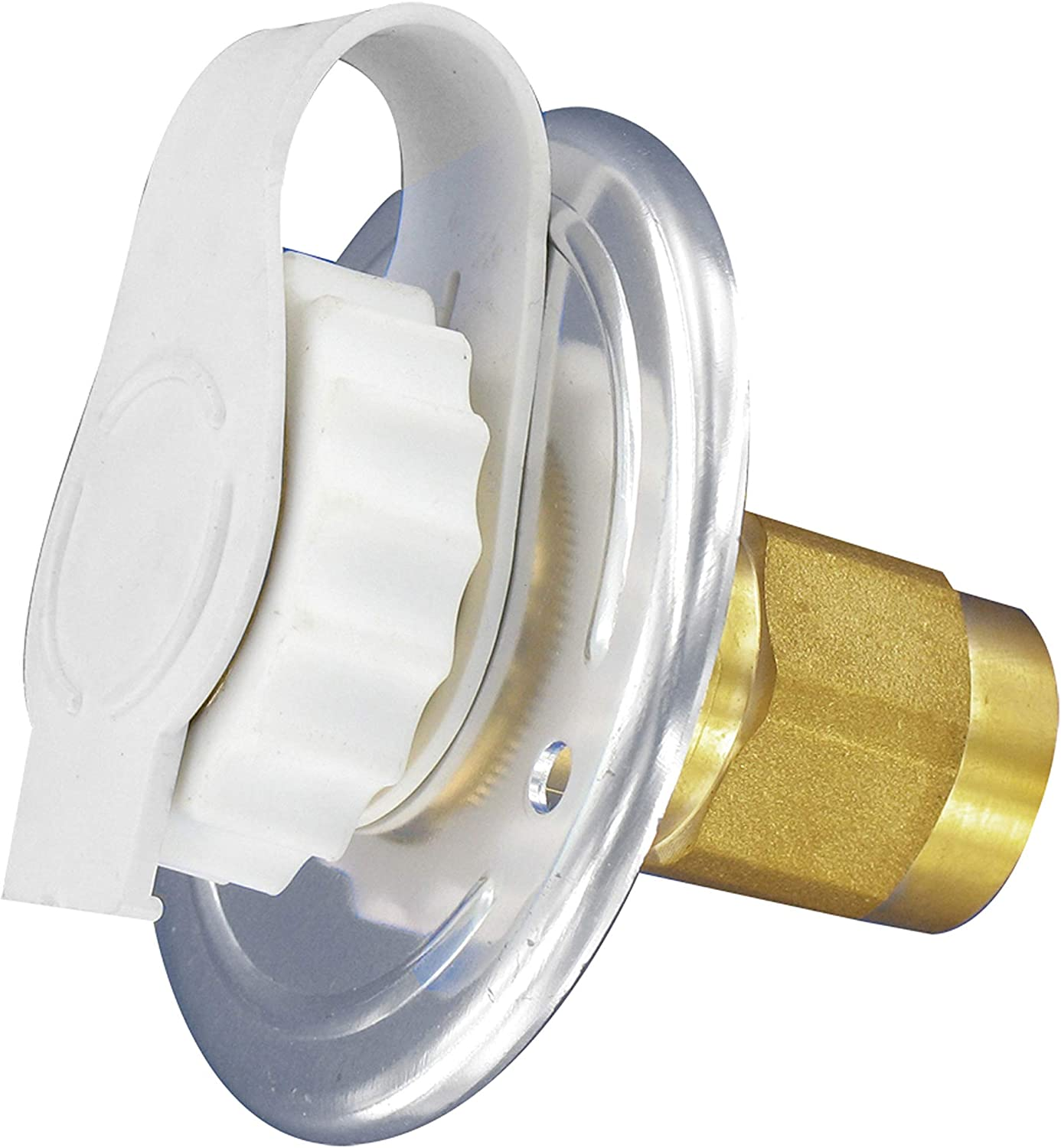 Water Inlet Plug 3//4In With Strap White Carded