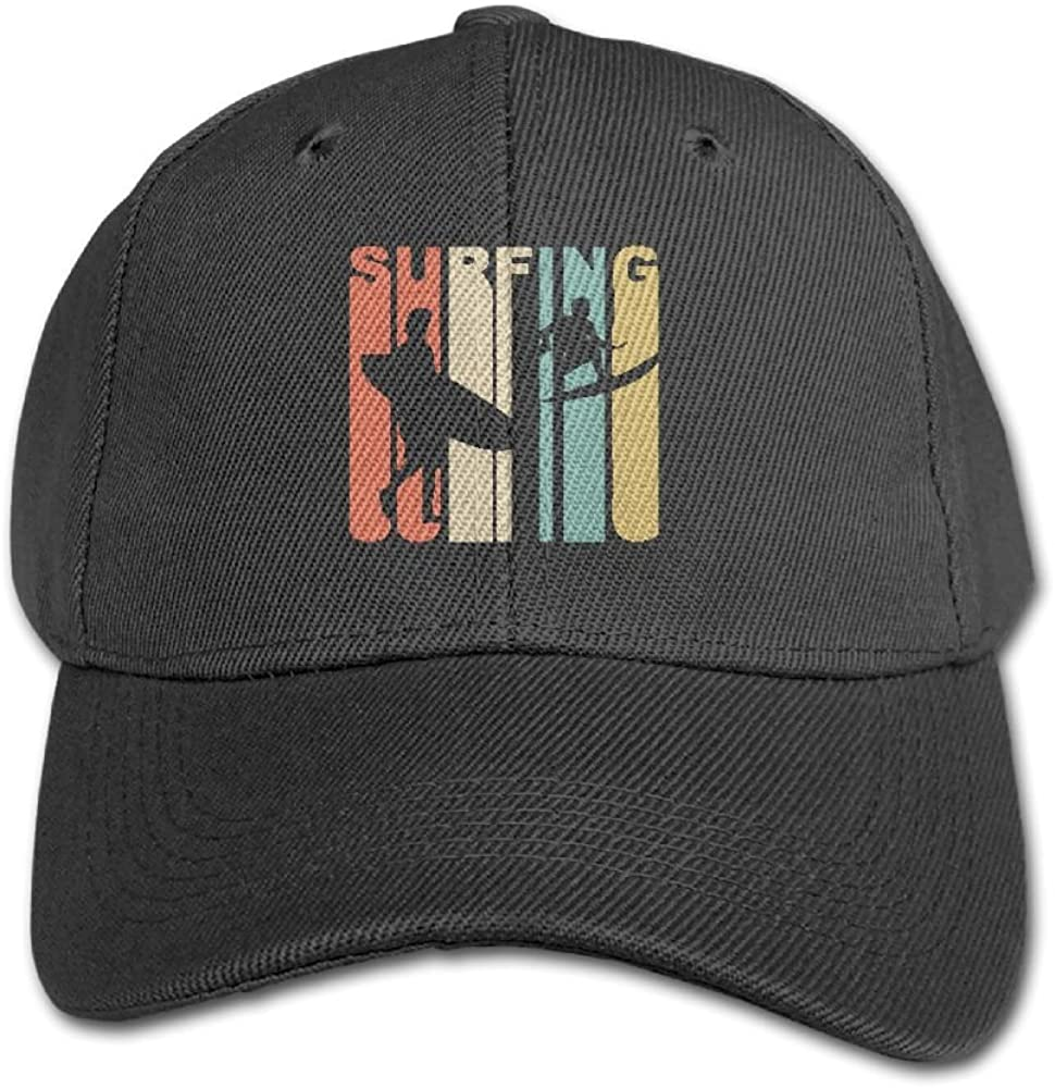 Haibaba Surfing Vintage Boys and Girls Black Baseball Caps Solid Hats