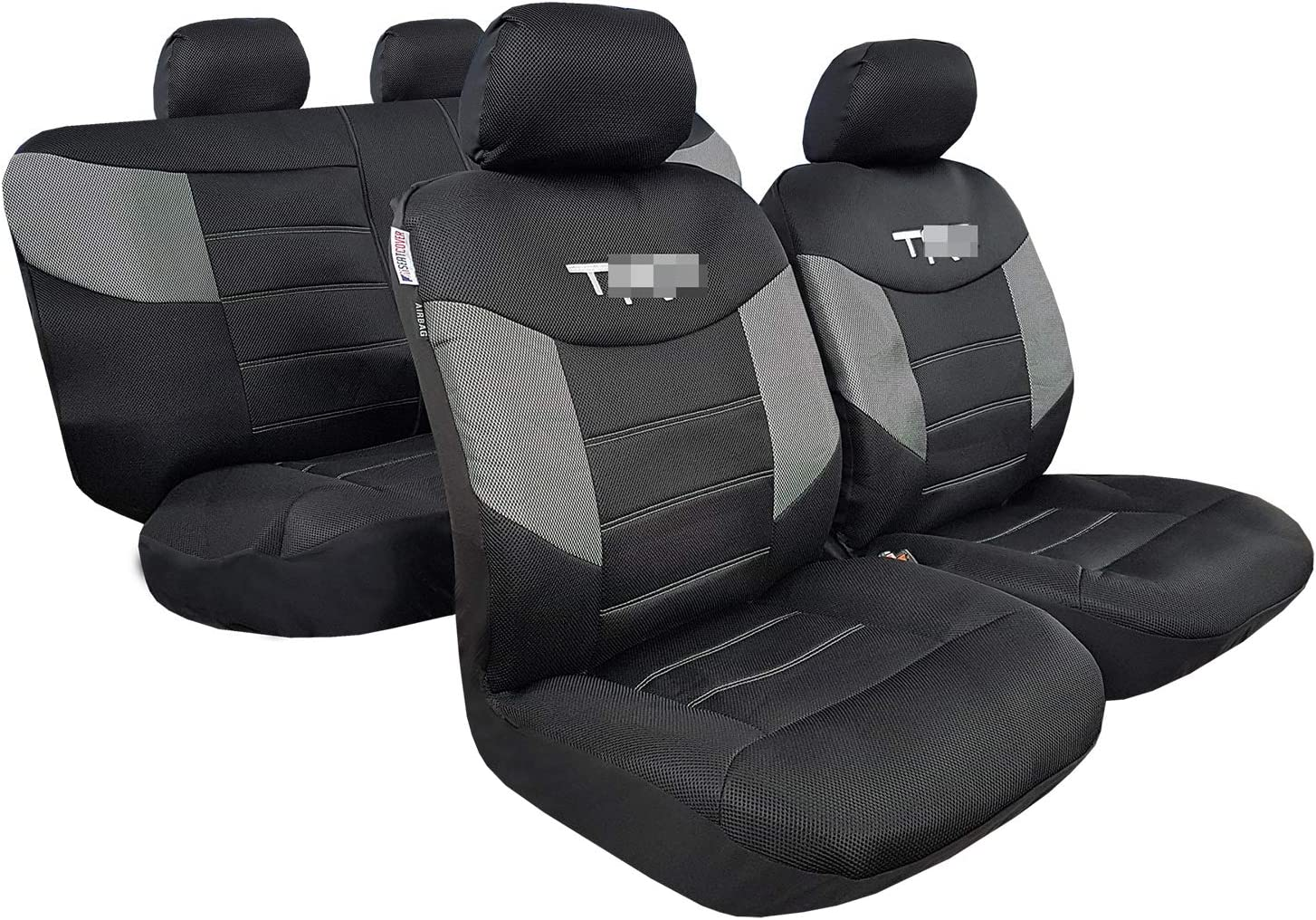 Heavy Duty 600 Denier Oxford Full Set Waterproof Seat Covers for Cars Trucks SUV Split Rear Bench Airbag Compatible ITAILORMAKER Canvas Seat Covers for Toyota Tacoma 4Runner Rav4