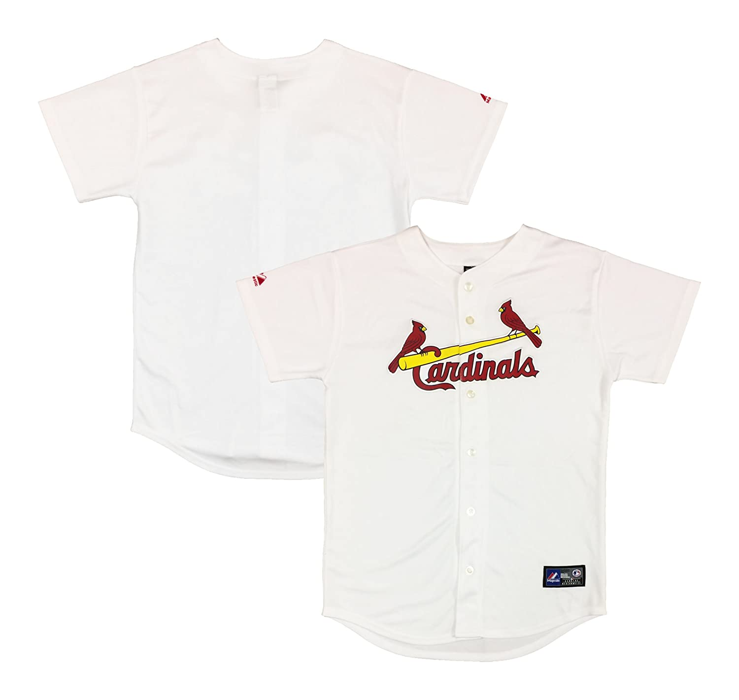 Louis Cardinals Word Mark Blank White Authentic Kids Home Jersey St