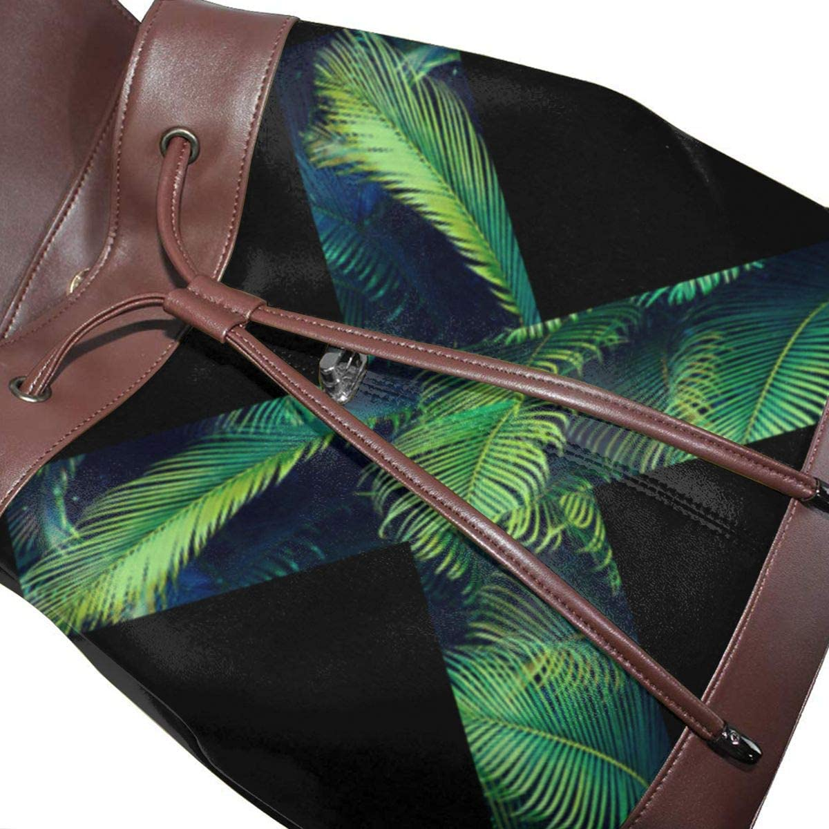 Outdoor Bag And Schoolbag Oximing No Harm To Green Plants Womens Leather Shoulder Bag