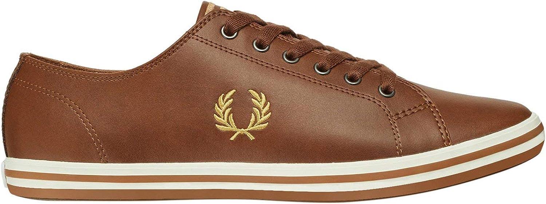 Fred Perry Kingston Leather Zapatillas Tostado/Doradas para Hombre