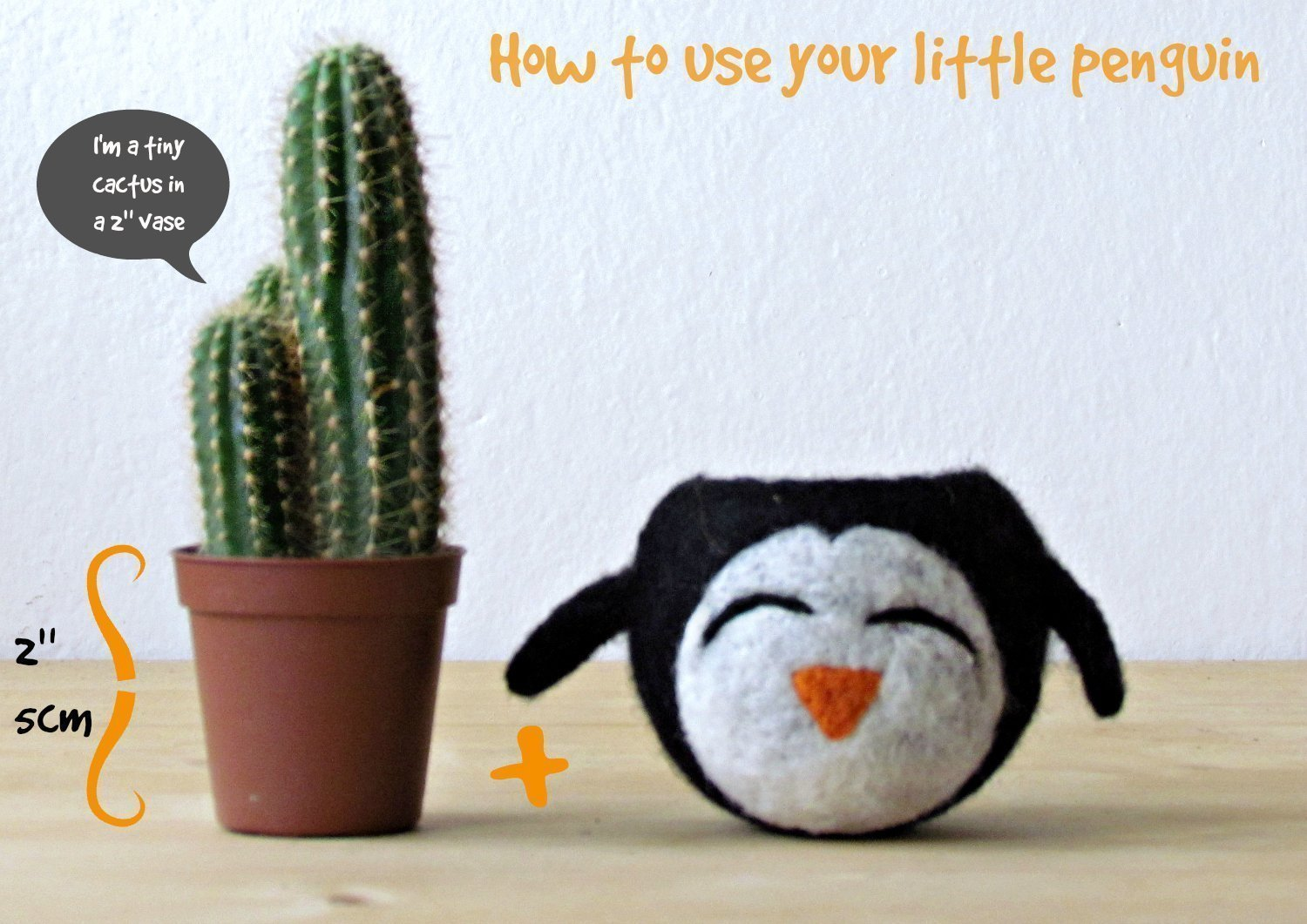Felt succulent planter//grey vase//happy penguin//cactus planter//mini planter//nursery decor//gift for her//Choose your color!