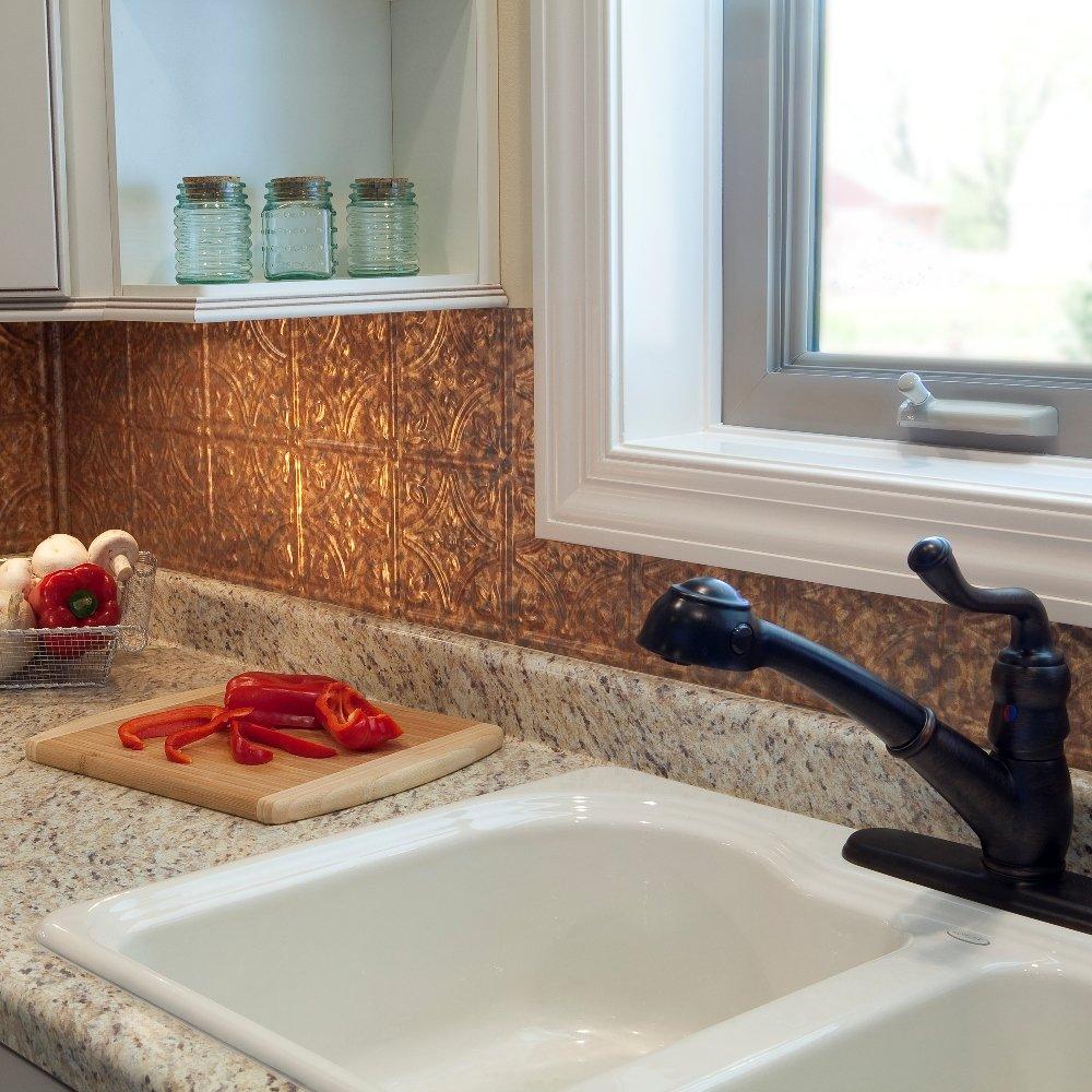 amazon com fasade easy installation traditional 1 cracked copper