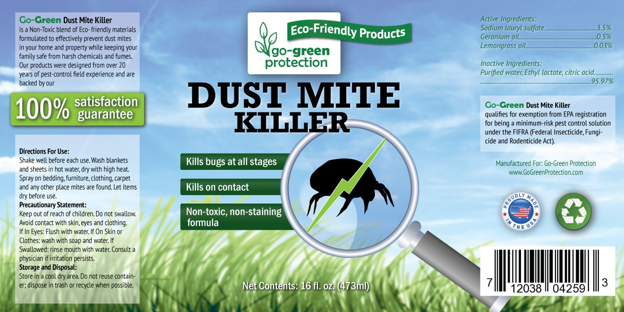 Amazon.com : 2-in-1 Dust Mite Killer and Repellent by Go-Green ...