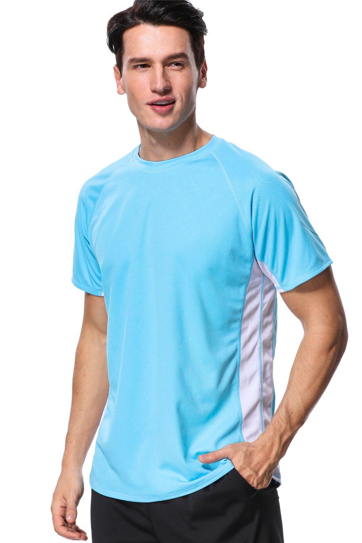 anfilia Short Sleeve Surf Shirt for Men Swimming