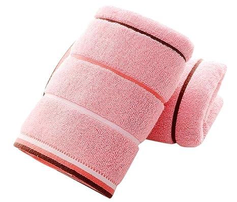 LIQIANYING &apos 2 piezas algodón Molli gruesas lavables Viso toallas toallas 34 * 74 centímetros/