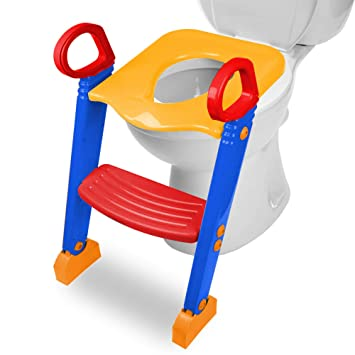 Toilettentrainer Rutschfest WC Sitz Toilettenaufsatz Toilettensitz mit Treppe