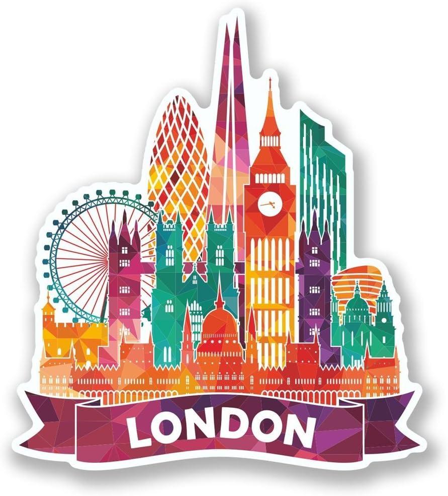 2 x London England UK Vinyl Sticker Laptop Travel Luggage Car #6639